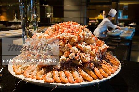 Tray of Crab Claws, Parkview Restaurant, Shilla Seoul Hotel, Seoul, Korea