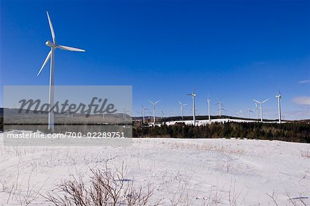 Wind Farm, Gaspasie, Quebec, Canada
