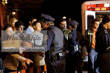 Police Calming Crowd at Accident Scene, Toronto, Ontario, Canada Stock Photo - Rights-Managed, Image code: 700-02348235
