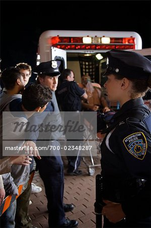 Police Watching over Crowd at Accident Scene, Toronto, Ontario, Canada Stock Photo - Rights-Managed, Image code: 700-02348287