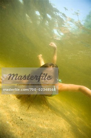 Little Girl Swimming in Long Lake Naples, Maine, USA Stock Photo - Rights-Managed, Image code: 700-02348568