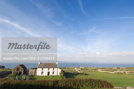 Houses on Cape Clear Island, County Cork, Ireland