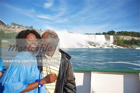 Couple in Boat by Niagara Falls, Niagara Falls, Ontario, Canada Stock Photo - Rights-Managed, Image code: 700-02376805