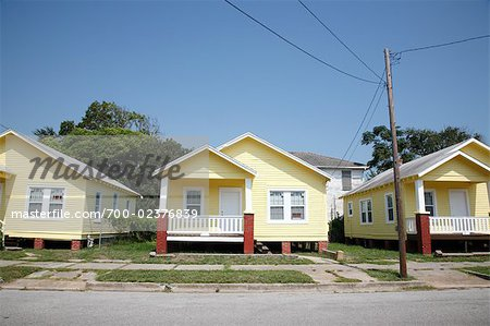 Row of Houses in Subdivision, Galveston, Texas, USA Stock Photo - Rights-Managed, Image code: 700-02376839
