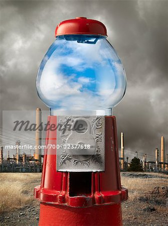 Clean Air in Gumball Machine by Factory Stock Photo - Rights-Managed, Image code: 700-02377618