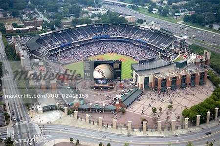 Aerial View of Turner Field, Atlanta, Georgia, USA Stock Photo - Rights-Managed, Image code: 700-02418158