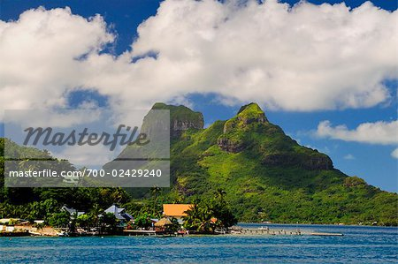 Bora Bora and Lagoon, Society Islands, French Polynesia, South Pacific Stock Photo - Rights-Managed, Image code: 700-02429240
