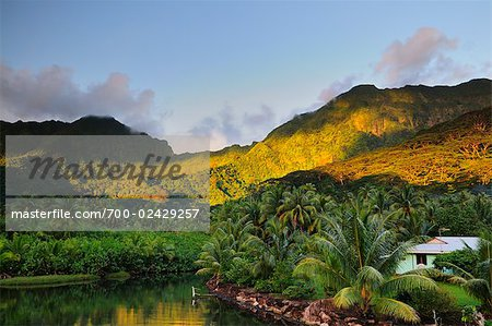 Mt Toomaru, West Coast of Raiatea Society Islands, French Polynesia South Pacific Stock Photo - Rights-Managed, Image code: 700-02429257