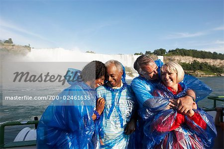 Couples Embracing Aboard the Maid of the Mist, Niagara Falls, Ontario, Canada Stock Photo - Rights-Managed, Image code: 700-02461635