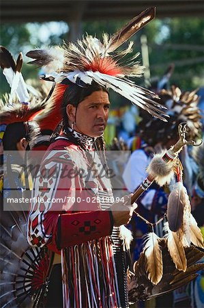 Blackfoot Man at Pow-wow in Kainai Nation, South of Fort Macleod, Alberta, Canada Stock Photo - Rights-Managed, Image code: 700-02519094