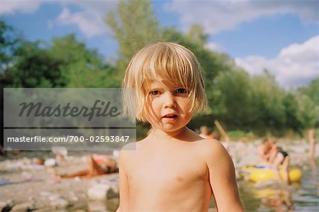 Little Girl at Ardeche River in the Summer, France Stock Photo - Rights-Managed, Image code: 700-02593847