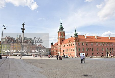 Royal Castle and King Sigismund's Column, Castle Square, Old Town, Warsaw, Poland Stock Photo - Rights-Managed, Image code: 700-02633770