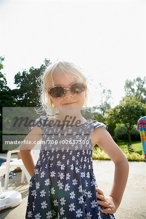 Portrait of Girl with Sunglasses Stock Photo - Rights-Managed, Image code: 700-02637300