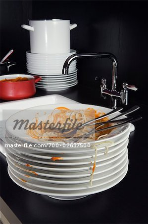 Dirty Plates Stock Photo - Rights-Managed, Image code: 700-02637500