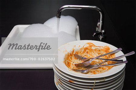 Dirty Plates Stock Photo - Rights-Managed, Image code: 700-02637502