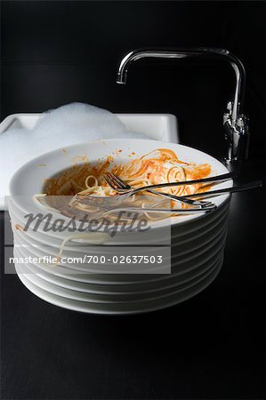 Dirty Plates Stock Photo - Rights-Managed, Image code: 700-02637503