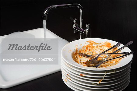 Dirty Plates Stock Photo - Rights-Managed, Image code: 700-02637504