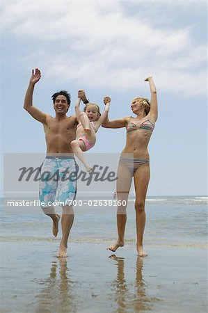 Family Having Fun on the Beach Stock Photo - Rights-Managed, Image code: 700-02638160