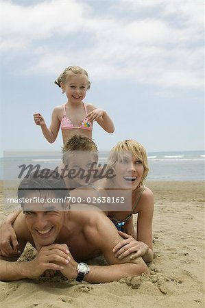 Family Having Fun on the Beach Stock Photo - Rights-Managed, Image code: 700-02638162