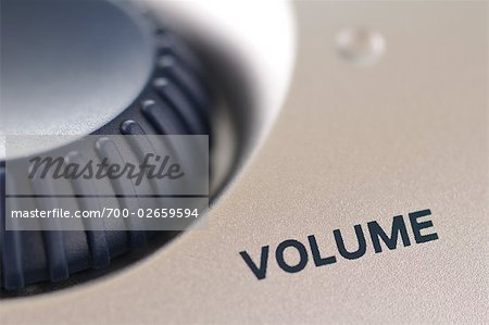 Close-up of Volume Dial Stock Photo - Rights-Managed, Image code: 700-02659594