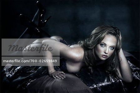 Portrait of Woman in Lingerie Stock Photo - Rights-Managed, Image code: 700-02659849