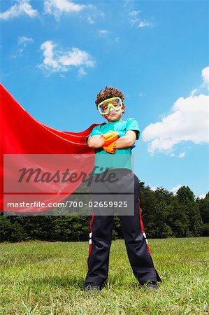 Boy Dressed Up as Super Hero Stock Photo - Rights-Managed, Image code: 700-02659925