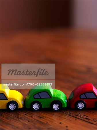 Wooden Cars in Row Stock Photo - Rights-Managed, Image code: 700-02669173