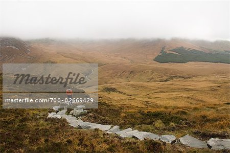 Woman on Rock Trail, Connemara National Park, Connemara, County Galway, Ireland Stock Photo - Rights-Managed, Image code: 700-02669429