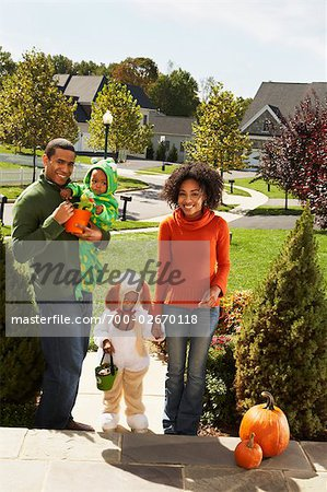 Family Trick-or-Treating Together Stock Photo - Rights-Managed, Image code: 700-02670118