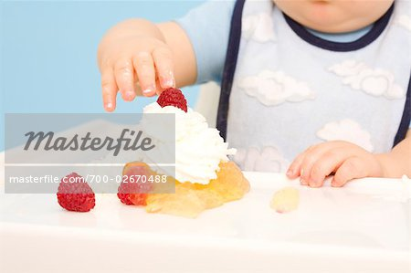 Baby Playing with Food Stock Photo - Rights-Managed, Image code: 700-02670488
