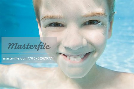 Portrait of Boy Underwater Stock Photo - Rights-Managed, Image code: 700-02670774