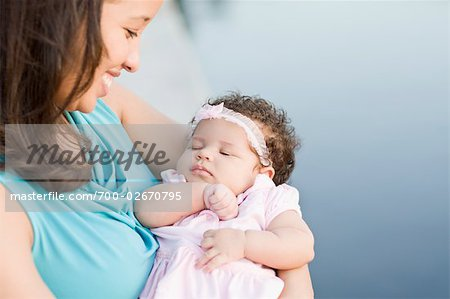 Portrait of Mother with Baby Daughter Stock Photo - Rights-Managed, Image code: 700-02670795