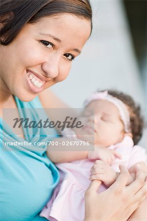 Portrait of Mother with Daughter Stock Photo - Rights-Managed, Image code: 700-02670796
