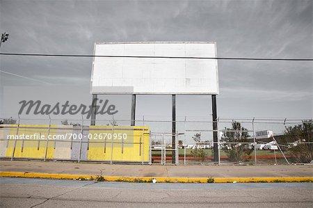 Blank Billboard, Galveston, Texas, USA