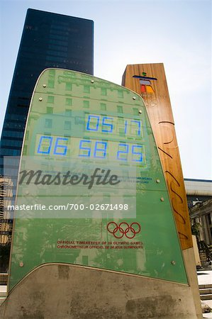 2010 Olympics Countdown Board, Vancouver, BC, Canada Stock Photo - Rights-Managed, Image code: 700-02671498