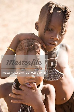 Two Himba Children, Namibia Stock Photo - Rights-Managed, Image code: 700-02693943