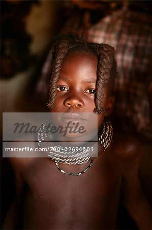 Portrait of Himba Girl, Opuwo, Namibia Stock Photo - Rights-Managed, Image code: 700-02694001