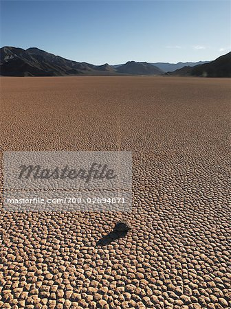 Moving Rock, Death Valley, California, USA Stock Photo - Rights-Managed, Image code: 700-02694071