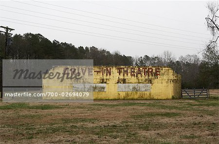 Rundown Drive-In Theatre, Chincoteague, Virginia, USA Stock Photo - Rights-Managed, Image code: 700-02694079