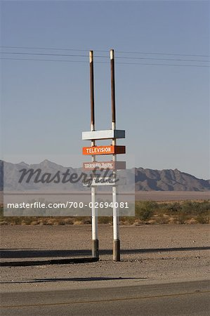 Trailer Park and Motel Sign, Southern California, USA Stock Photo - Rights-Managed, Image code: 700-02694081