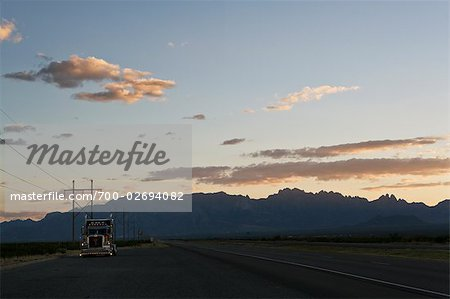 Truck on Roadside at Dusk, Alamogordo, New Mexico, USA Stock Photo - Rights-Managed, Image code: 700-02694082