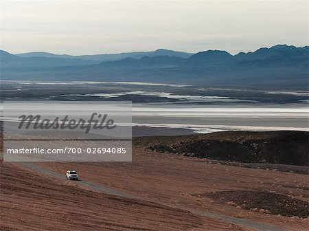Car on Desert Road, Death Valley, California, USA Stock Photo - Rights-Managed, Image code: 700-02694085