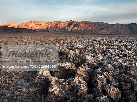 Crusty Salt Coated Landscape at Death Valley, California, USA Stock Photo - Rights-Managed, Image code: 700-02694088
