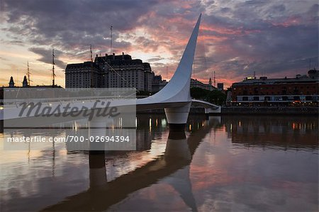 Puente De La Mujer, Puerto Madero, Buenos Aires, Argentina Stock Photo - Rights-Managed, Image code: 700-02694394