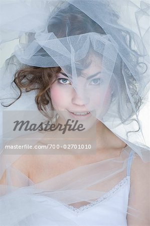 Portrait of Woman Covered in Crinoline Stock Photo - Rights-Managed, Image code: 700-02701010