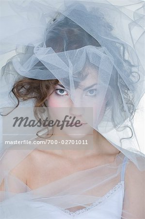Portrait of Woman Covered in Crinoline Stock Photo - Rights-Managed, Image code: 700-02701011
