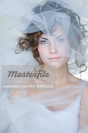 Portrait of Woman Covered in Crinoline Stock Photo - Rights-Managed, Image code: 700-02701012