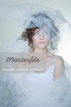 Portrait of Woman Covered in Crinoline Stock Photo - Rights-Managed, Image code: 700-02701014