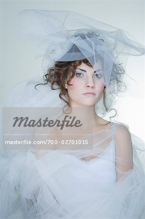Portrait of Woman Covered in Crinoline Stock Photo - Rights-Managed, Image code: 700-02701015