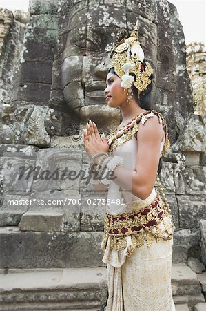 Dancer, Bayon Temple, Angkor Thom City, Siem Reap, Cambodia Stock Photo - Rights-Managed, Image code: 700-02738481